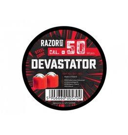 RazorGun Esferas de aço cal .50 Devastator de núcleo de aço para HDR50 - 60 peças