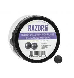 RazorGun Billes en caoutchouc avec remplissage en fer cal.50 pour HDR50 / HDP50 - 50 pièces