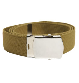 Mil-Tec Trouser belt US with metal buckle - Coyote