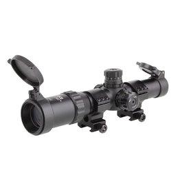 ASG 1-4x24 Zielfernrohr Mil-Dot Absehen beleuchtet - BK