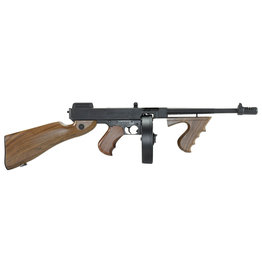King Arms King Arms Thompson M1928 AEG 1.49 Joule - BK / wood look
