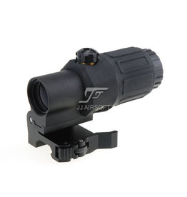 JJ Airsoft G33 3x Magnifier with Killflash - BK