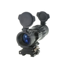 JJ Airsoft 4x FXD Magnifier With QD Mount And Killflash - BK
