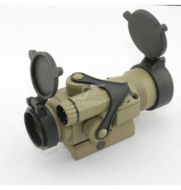 JJ Airsoft M2 Red Dot with Killflash - TAN