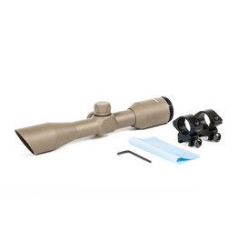 Phantom 4x32 Riflescope Compact w/Rings - TAN