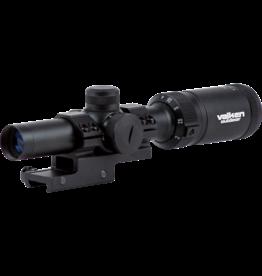 Valken 1-4x20 riflescope Mil-Dot red / green illuminated - BK