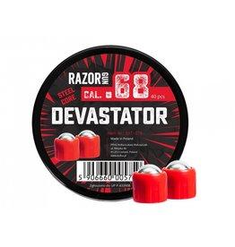 RazorGun Bolas de acero cal .68 Steel Core Devastator para HDS / HDX68 - 40 piezas