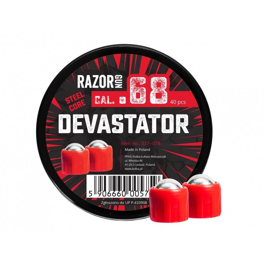 RazorGun Stahlkugeln Kal .68 Steel Core Devastator für HDS/HDX68 - 40 Stück