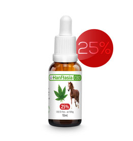 HanftAsia CBD Bio Öl Tropfen 25% für Tiere ab 150 kg