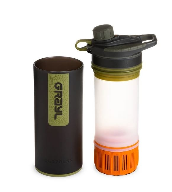 Grayl GeoPress Purifier bottle with water filter - Camo black