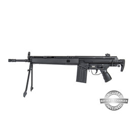 Jing Gong T3-K2 Assault Rifle w / Battery and Charger AEG 1.0 Joule - BK