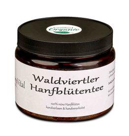 CBD Express Waldviertler Hemp Vital organic hemp blossom tea in a glass - 50g