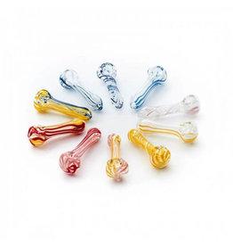 Hanfbar Pipe en verre - moyenne - 11 cm - colorée