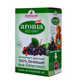Aronialand Bio Aronia Direktsaft - 3 Liter Box