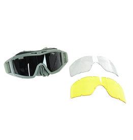 AO Tactical Gear Lunettes de sécurité de type révision avec 3 verres interchangeables - OD