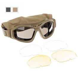 MFH Revision Schutzbrille mit 3 Wechselgläser