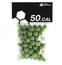 Dynamic Sports Gear Rubberballs for training - cal. 50 - 100 pieces - green