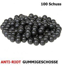Dynamic Sports Gear Balas de defensa antidisturbios de goma dura - cal.68-100 piezas - BK
