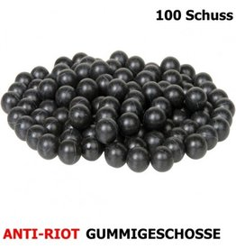 Dynamic Sports Gear Balas de defesa anti-Riot de borracha dura - cal. 68 - 100 peças - BK