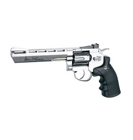 ASG 6 Zoll Dan Wesson CO2-Revolver 4,5 mm BB Pellet 3,0 Joule - Silber