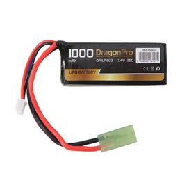 DragonPro 7.4V 1000mAh 25C Stick