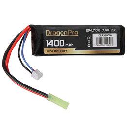 DragonPro 7.4V 1400mAh 25C Stick
