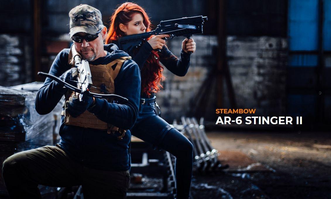 Steambow AR-6 Stinger II Tactical Pistol Crossbow 18 Joule - BK