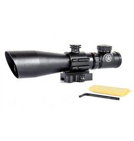 Lone Star 3-9X42 Riflescope Compact Red/Green Illuminated - BK