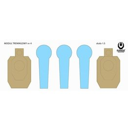 Range Solutions IPSC Drill-4 Shooting Target 520 x 180 mm - 50 pieces