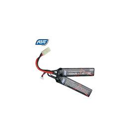 ASG Li-Po Battery 7.4V 1300mAh 20C Two-Panel - Tamiya Plug