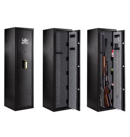 Buffalo River Premium safe gun cabinet for 7 long guns with A2P key