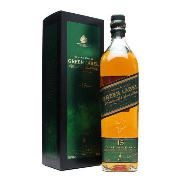 Johnnie Walker green label 15Y 1L