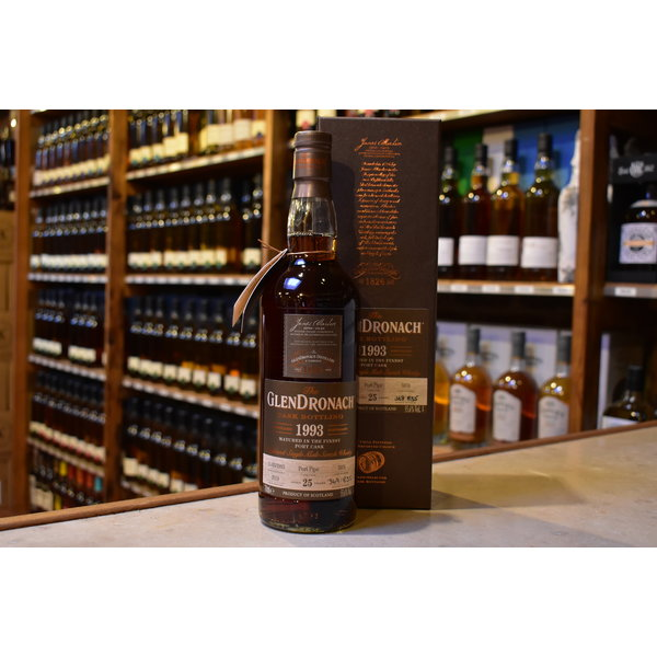 Glendronach 1993 port pipe