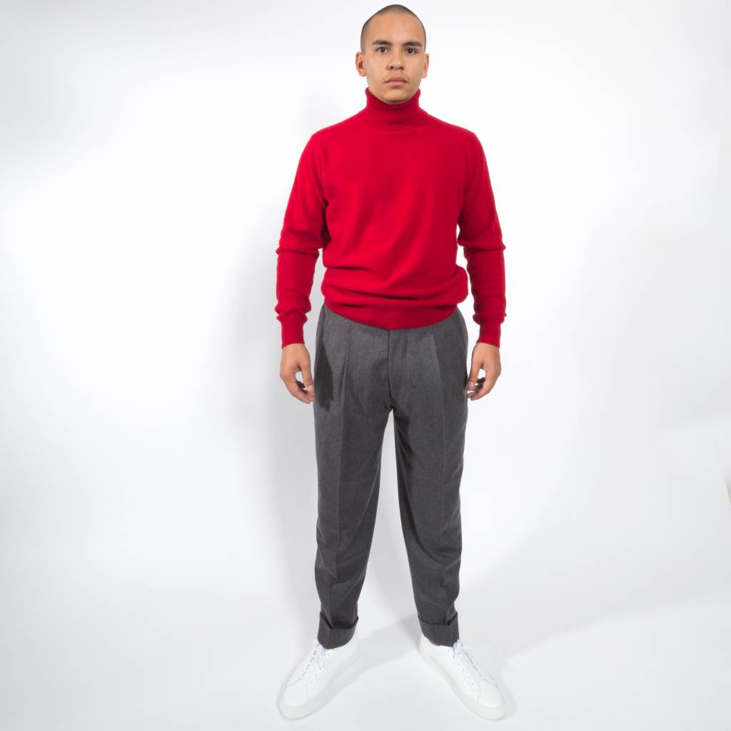 President's 7bell Turtle neck P's washed wool
