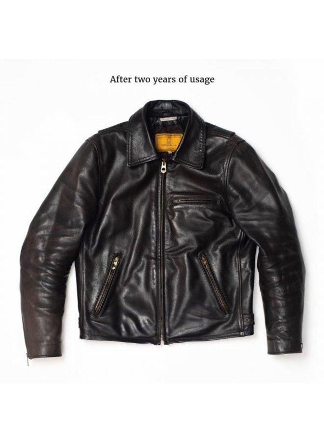 Varenne black leather jacket