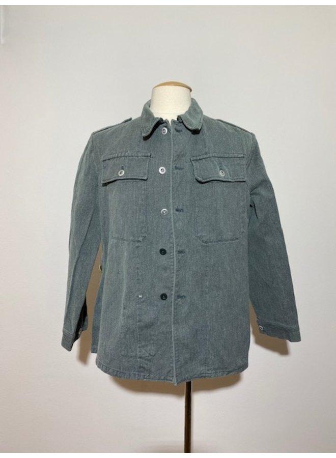 Swiss army denim jacket