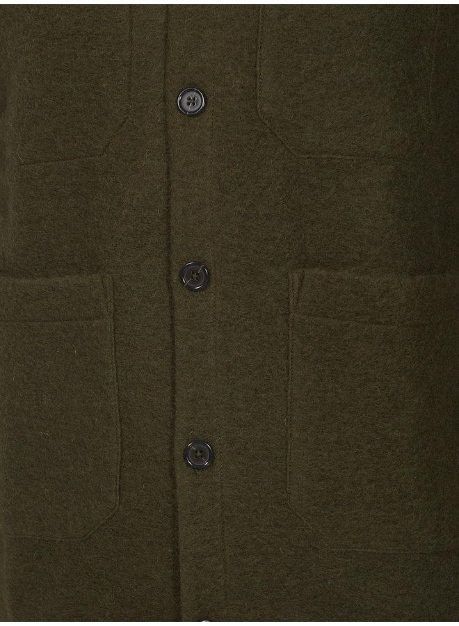 Cardigan wool fleece