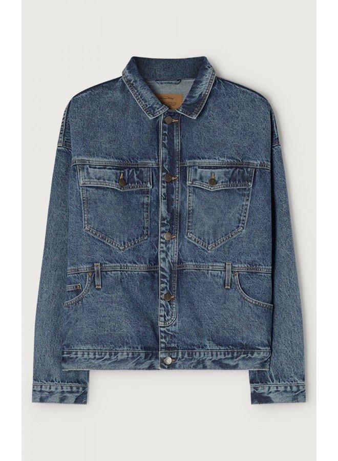 Veste ml col chemise (jeans jacket)