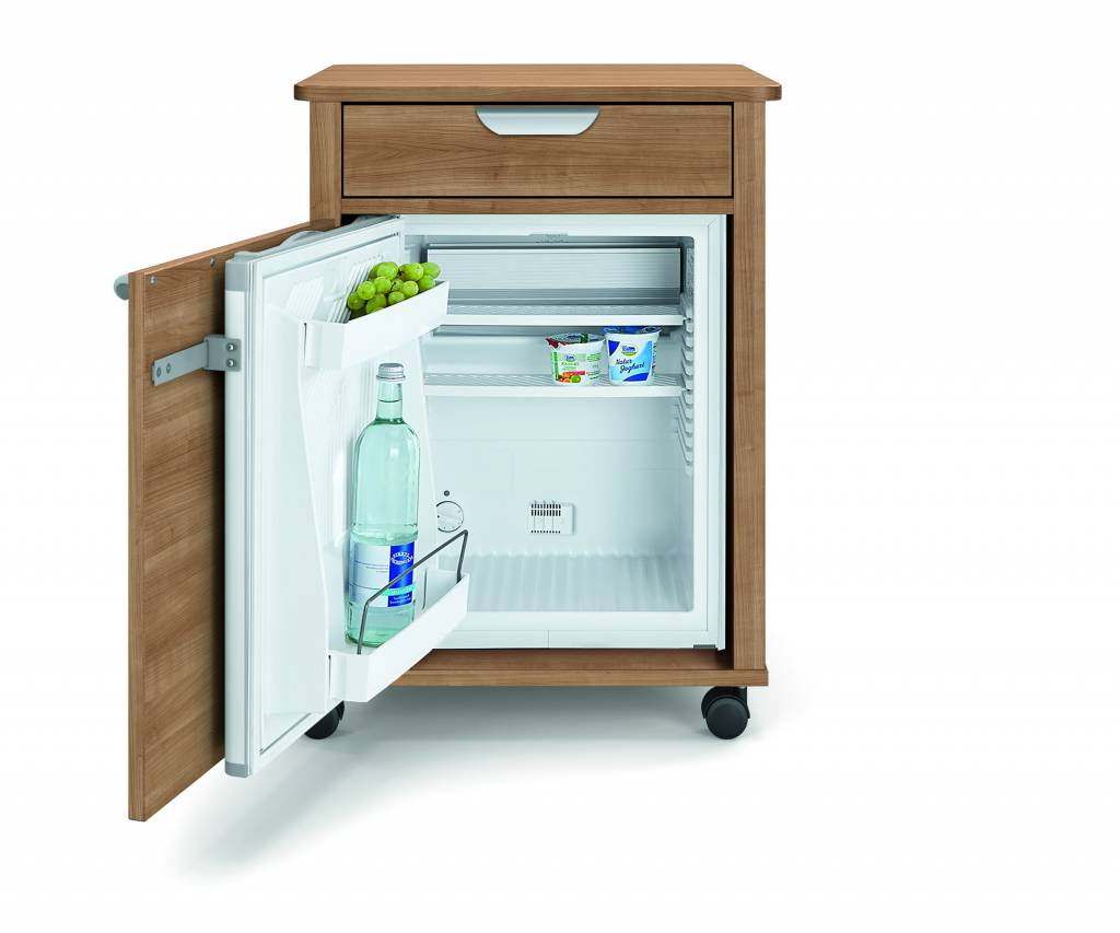Technischer Aufbau Kühlschrank : Nachttisch mit kühlschrank vivo k dekor kirsche havanna