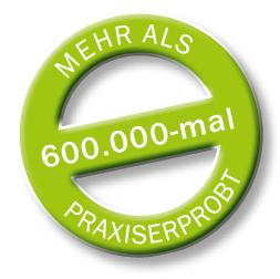 Das Seitenlehnensystem ist über 600.000 mal praxiserprobt