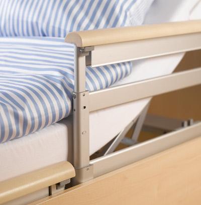 Das Bild zeigt die Seitenlehnen des Komfort- und Pflegebetts BonCasa.