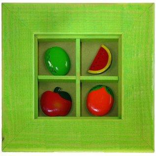 4 Way Fruit Picture Asst 15x15cm