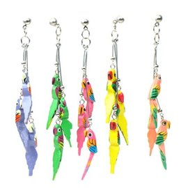 Triple Parrot Earring - Assorted Colours