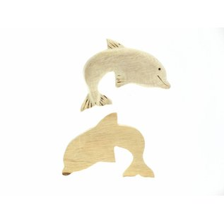 Wooden Dolphin 10cm.
