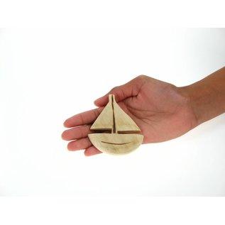 Wooden Sailboat 8cm.