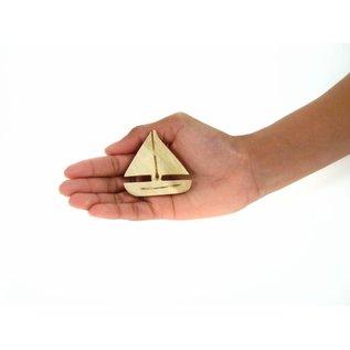 Wooden Sailboat 5cm.