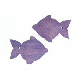 Wooden Lilac Guppy fish 8cm.