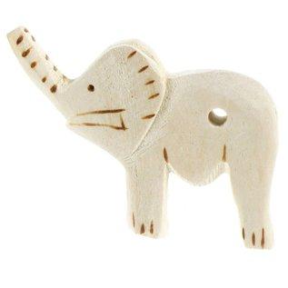 Wooden Elephant 8cm.