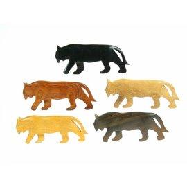 Polished wooden Tiger, 10cm.