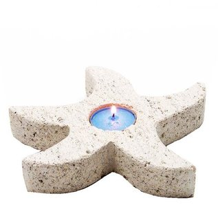 Pumice Starfish Candle Holder